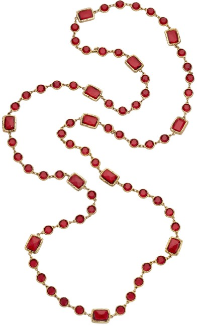 Item - Red/Gold Gripoix Necklace