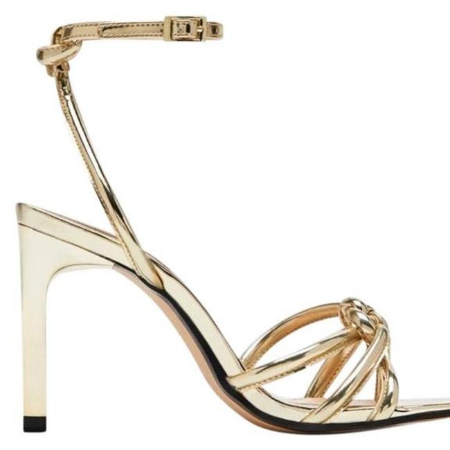 Item - Gold Sandal Heels Formal Shoes Size US 7 Narrow (Aa, N)