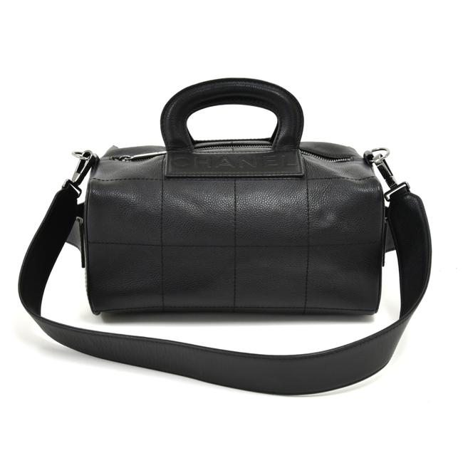 Item - Box Square Quilted 2 Way Black Calfskin Leather Hobo Bag