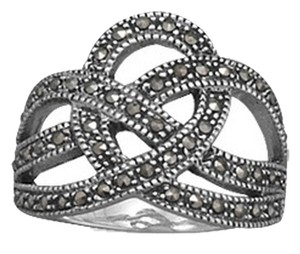 unknown Sterling Silver Marcasite Crown Design Ring