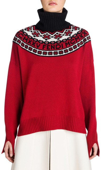 Fendi Zucca Logo Monogram Embroidered Mania Sweater Image 0