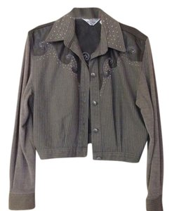 Lorraine Wardy Detailed Western Bomber Jacket with coordinating pants