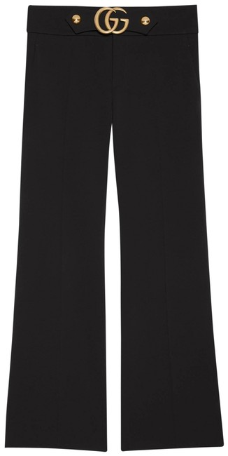 Gucci Black Gr Stretch Viscose with Double G Pants Size 10 (M, 31) Gucci Black Gr Stretch Viscose with Double G Pants Size 10 (M, 31) Image 1