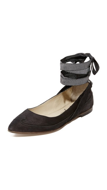 Item - Black Pressley Ankle Wrap Up Pointed Toe Flats Size EU 38 (Approx. US 8) Regular (M, B)