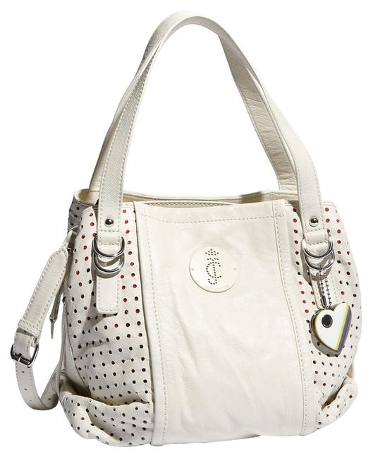 Item - Pippa Punched Off White Leather Satchel