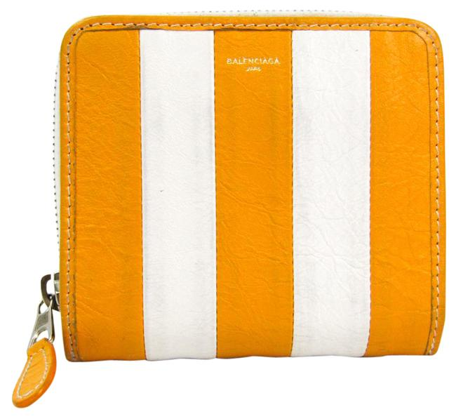 Item - White / Yellow Bazar 486461 Women's Calfskin (Bi-fold) Wallet