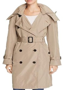 Burberry Hooded Lightweight Trench Coat