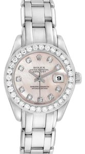 Rolex Rolex Pearlmaster White Gold MOP Diamond Ladies Watch 80299 Box Papers