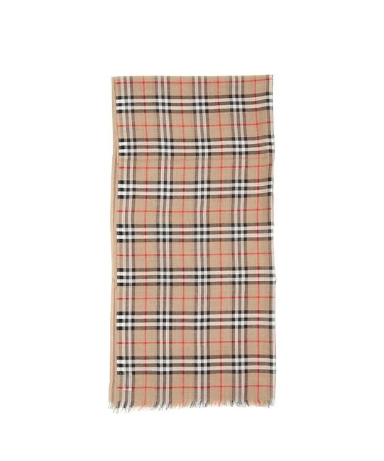 Item - Beige Cr New Giant Gauze Scarf/Wrap