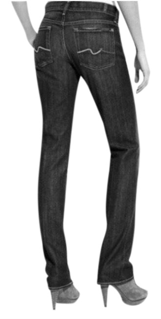 Item - Gray Black Dark Rinse Low Straight Leg Jeans Size 2 (XS, 26)