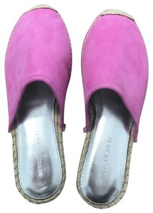 Marc Fisher Espadrille Summer Hot Pink Mules
