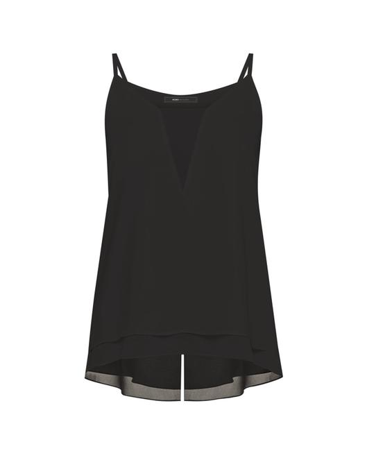 Item - Black Bcbg Max Azria Lyssa Sleeveless Asymmetrical Blouse S Tank Top/Cami Size 4 (S)