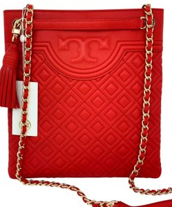 Tory Burch Fleming Swingpack Leather Cross Body Bag