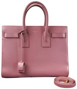 Yves Saint Laurent Leather Sac De Jour Tote in Pink