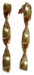 Other Vintage Twisted Goldtone Bar Earrings