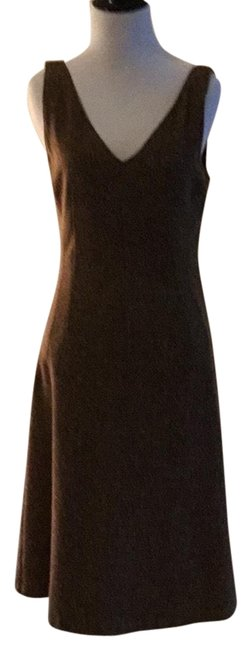 Item - Brown Fall Color D&g Mid-length Work/Office Dress Size 4 (S)