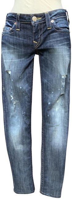Item - Blue Distressed Skinny Jeans Size 27 (4, S)