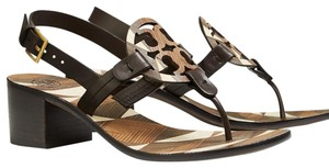 Tory Burch Miller Ankle Brown / Ivory /Coconut Sandals