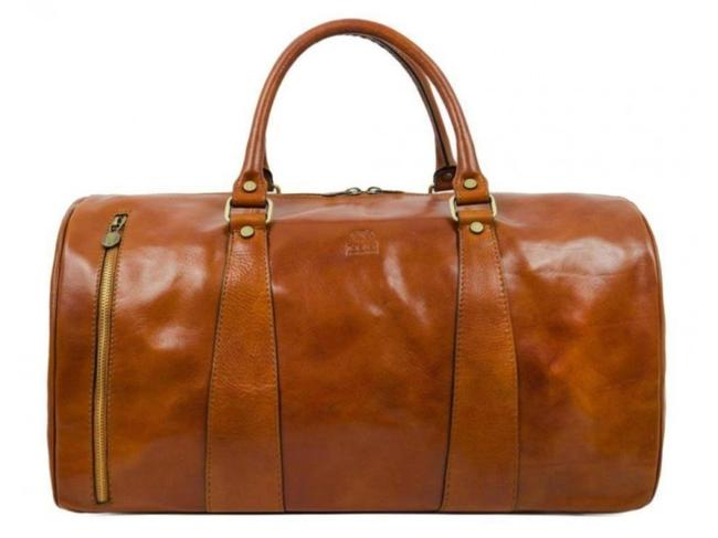 Item - Wise Children Light Brown Calfskin Leather Weekend/Travel Bag