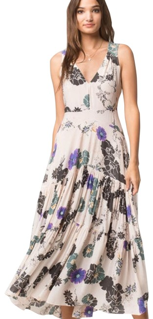 Item - Sure Things Floral Long Casual Maxi Dress Size 8 (M)