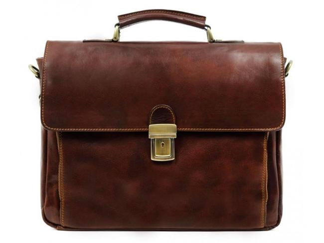 Item - In Cold Blood Brown Calfskin Leather Laptop Bag