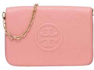 Tory Burch Bombe Convertible Clutch Leather Shoulder Bag