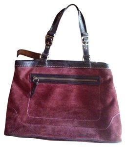 Coach Tote in purple/eggplant