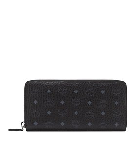 MCM Visetos Original Zip Around Coated Canvas Wallet MCM