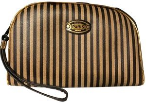 Paris Penguin Stripe Paris Wristlet