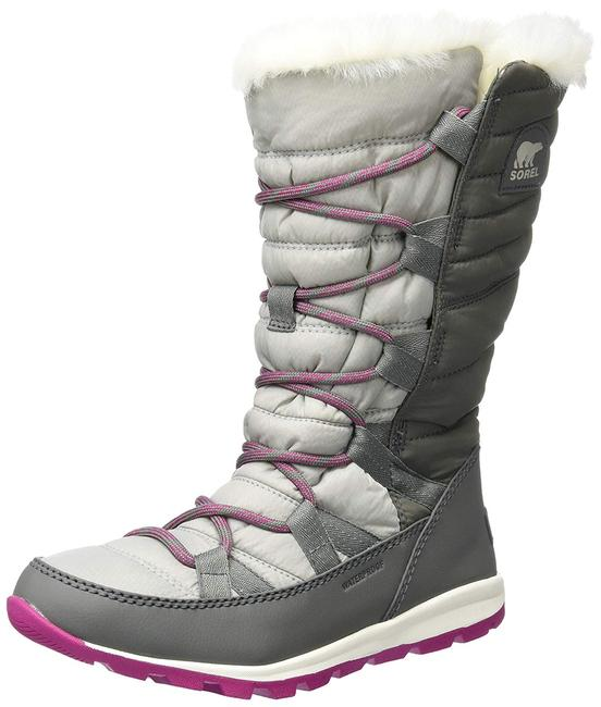Item - Grey Whitney Lace Up Tall Snow Boots/Booties Size US 9 Regular (M, B)