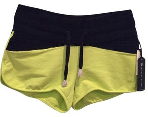Blanc Noir yellow and black Shorts