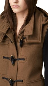Burberry Duffle Wool Toggle Color Block Trench Coat