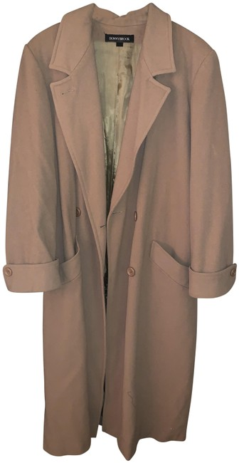 Item - Tan Ladies Full Length Double Breasted Wool Coat Size 14 (L)