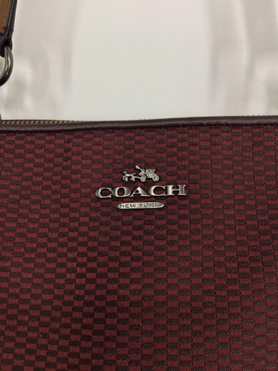 Coach Tote in Oxblood Image 11