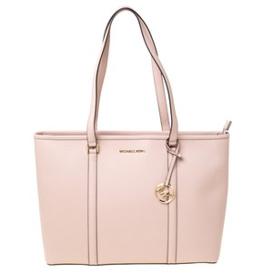 Michael Kors Leather Nylon Tote in Pink