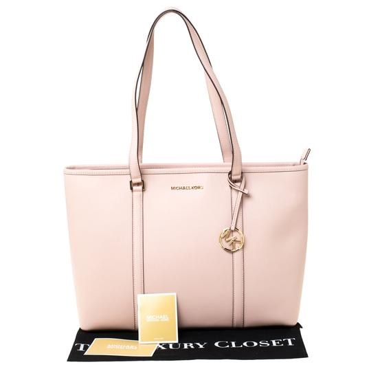 Michael Kors Leather Nylon Tote in Pink Image 11