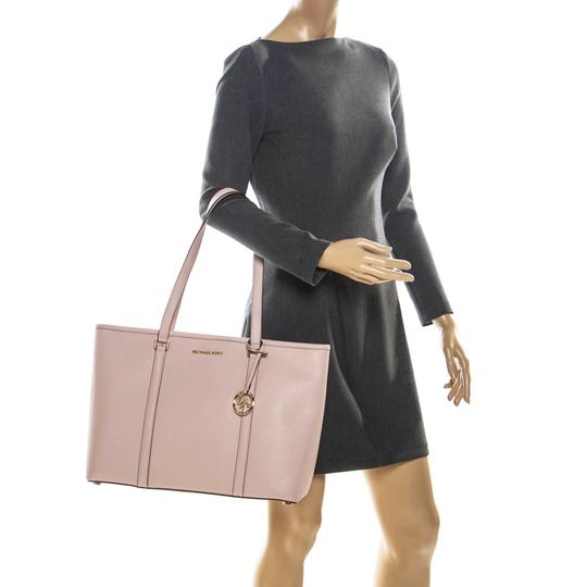Michael Kors Leather Nylon Tote in Pink Image 2
