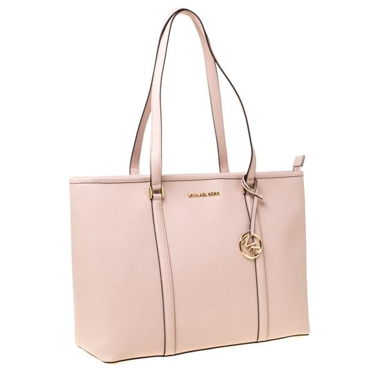 Michael Kors Leather Nylon Tote in Pink Image 3