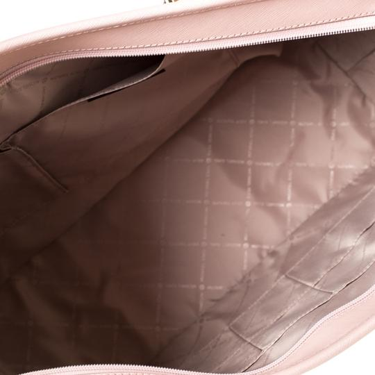 Michael Kors Leather Nylon Tote in Pink Image 7