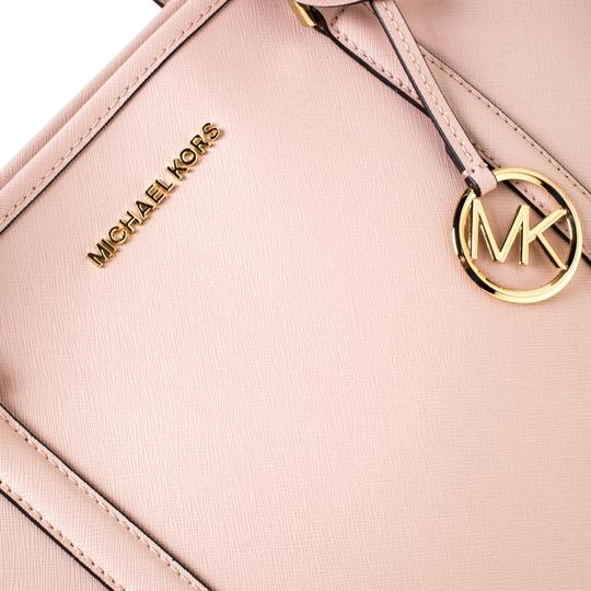 Michael Kors Leather Nylon Tote in Pink Image 8