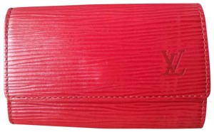 Louis Vuitton Red Epi 6 Key Holder Multicles