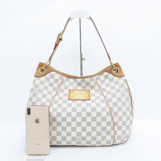 Louis Vuitton Lv Damier Azur Galliera Pm Hobo Bag Image 1
