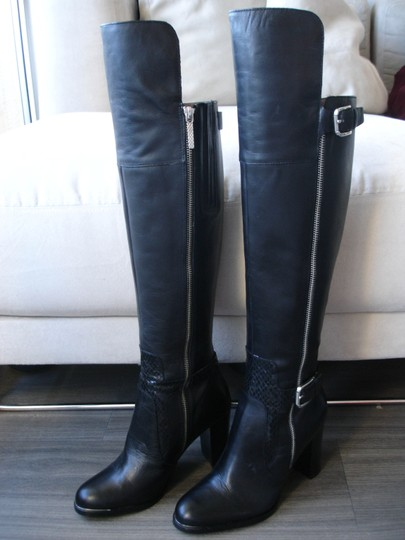 Donald J. Pliner Quinto Over-the-knee Tall Knee Quinto black Boots Image 4