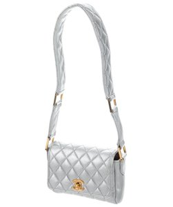 Chanel Micro Mini Vintage Satchel in Silver Metallic