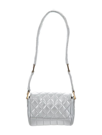Chanel Micro Mini Vintage Satchel in Silver Metallic Image 1