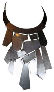 vintage Geometric Bib Satin Antiqued Bib Necklace