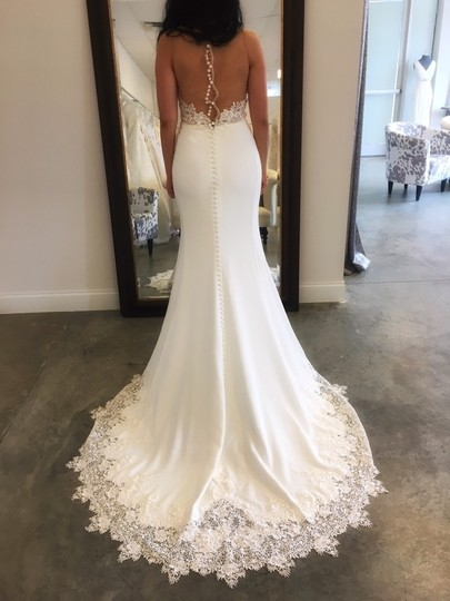Martina Liana Off-white (Ivory) Bellagio Crepe Skirt and Lace Top Sexy Wedding Dress Size 6 (S) Image 1