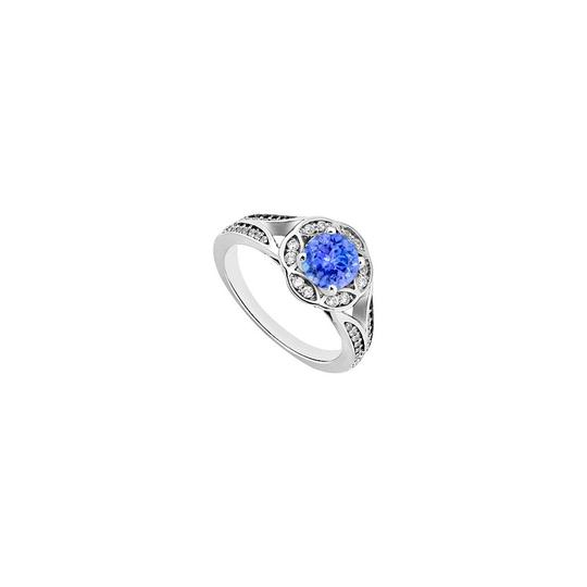 Preload https://img-static.tradesy.com/item/26102191/blue-created-tanzanite-and-cubic-zirconia-floral-engagement-ring-0-0-540-540.jpg
