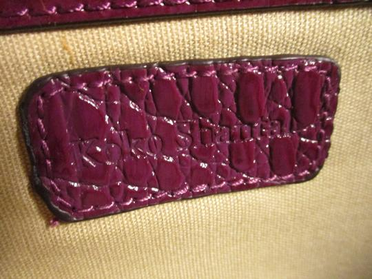 Koko Shantal Croc Embossed Faux Leather Man Made Tote Onm002 Satchel in purple Image 3