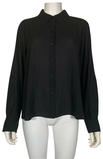 INC International Concepts Polyester Top Black Image 0